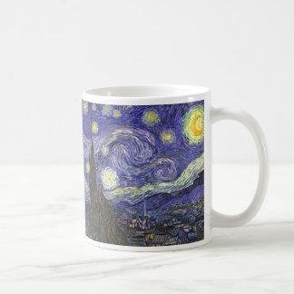 Taza De Café Noche estrellada de Van Gogh, paisaje de la bella
