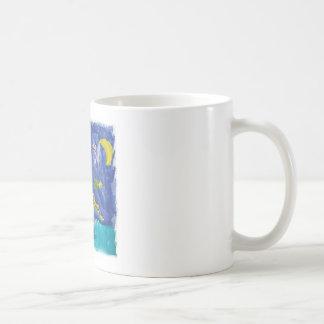 Taza De Café Noche estrellada Pegaso de la acuarela con el palo