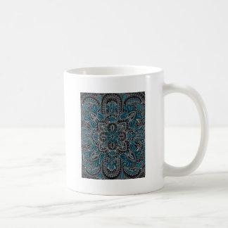 Taza De Café Noche negra de la turquesa