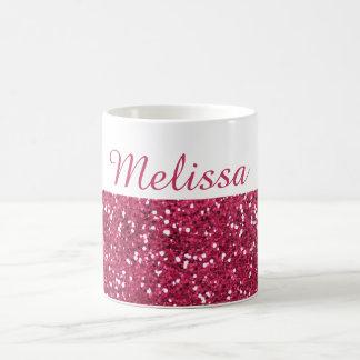 Taza De Café Nombre rosado atractivo del personalizado del