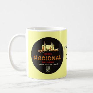 Taza De Café Nostalgia de lujo del viaje del HOTEL NACIONAL DE