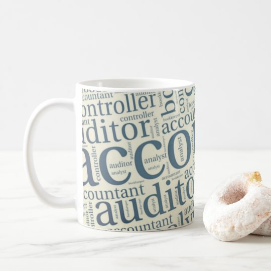 """Taza De Café """"Nube de la palabra de los contables """""""