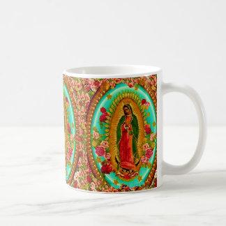 Taza De Café Nuestro Virgen María mexicano del santo de señora
