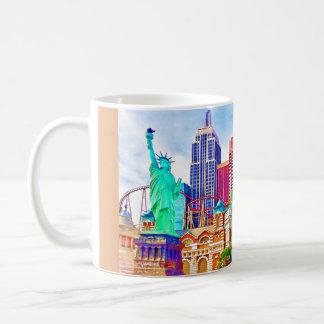 Taza De Café Nueva York, Nueva York en la acuarela de Las Vegas
