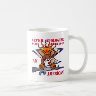Taza De Café Nunca se disculpa por ser un AR15 americano M16