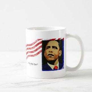 Taza De Café Obama/podemos sí
