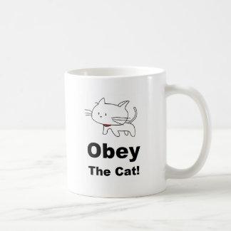 Taza De Café Obedezca el gato