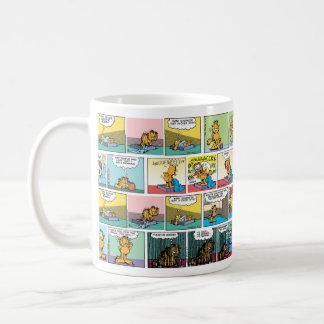 """Taza De Café """"Odio las historietas de lunes"""" Garfield"""