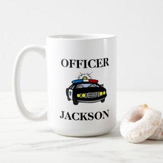 Taza De Café Oficial personalizado del coche policía