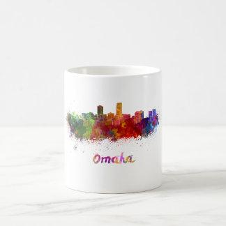 Taza De Café Omaha skyline in watercolor