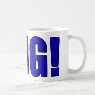 Taza De Café ¡OMG! azul