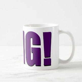 Taza De Café ¡OMG! púrpura