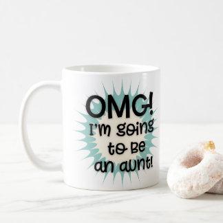 Taza De Café OMG voy a ser una tía Mug