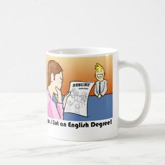 Taza De Café Oops, conseguí un grado inglés