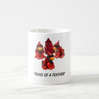 """Taza De Café Opinión de la rana…., """"ranas de una pluma """""""