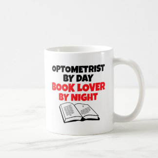 Taza De Café Optometrista del aficionado a los libros del día