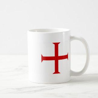 Taza De Café Orden de la cruz de Templar de los caballeros