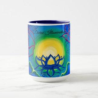 """Taza de café original del arte de la """"iluminación"""