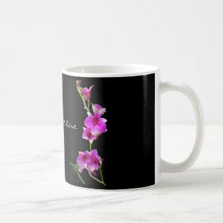 Taza De Café orquídeas de las rosas fuertes