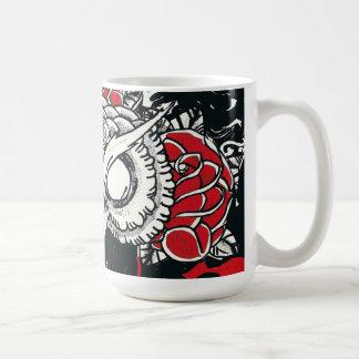 Taza de café oscura del búho