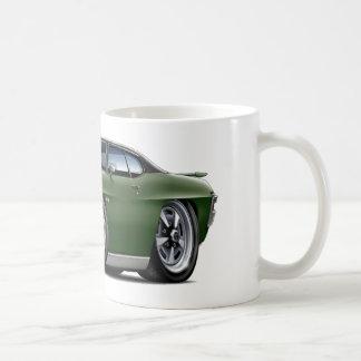 Taza De Café Oscuridad de 1970 GTO - verde - top negro