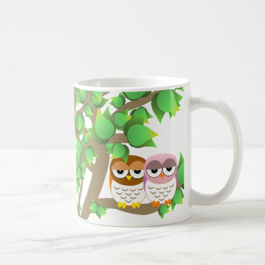 Taza De Café Owls in tree