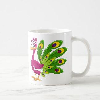 Taza De Café Pájaro del pavo real