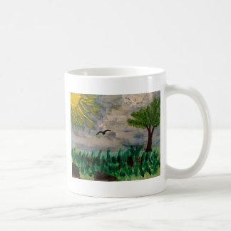 Taza De Café Pájaro en el prado