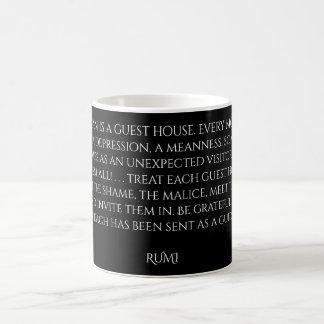 """Taza De Café Palabras de la """"pensión"""" de Rumi de la sabiduría"""