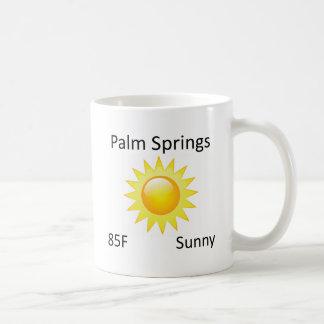 Taza De Café Palm Springs del tiempo