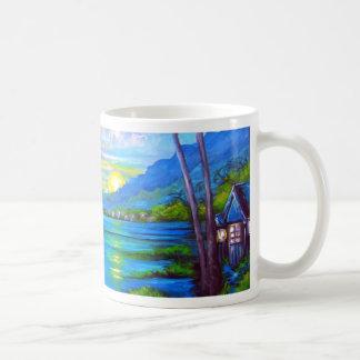 Taza De Café Palmas tropicales azules