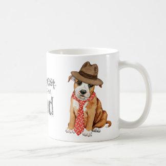 Taza De Café Papá de Staffordshire bull terrier