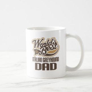 Taza De Café Papá del galgo italiano (mundos mejores)