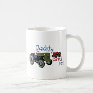 Taza De Café Papá y yo tractores