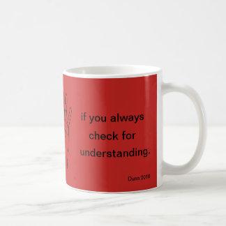 Taza De Café ¡Para la reflexión chistosa en la enseñanza!