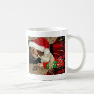 Taza De Café Para Santa que espera - perro Snoopy del beagle