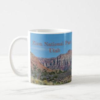 Taza De Café Parque nacional de Zion de la montaña