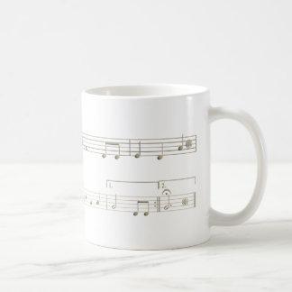 Taza De Café Partitura cumpleaños feliz para Oboe