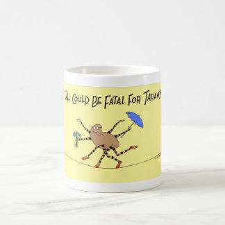 Taza De Café Paseos de la araña del Tarantula la cuerda