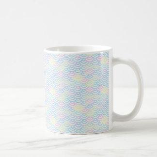 Taza De Café Pastel de la sirena del arco iris