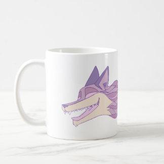 Taza De Café Pastel vivo del Fox violentamente