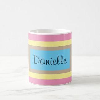 Taza De Café Pasteles multicolores personalizados