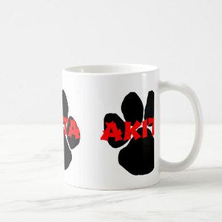 Taza De Café pata conocida de Akita