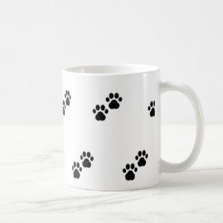 Taza De Café Patas del perro en blanco