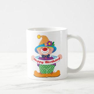Taza De Café Payaso del cumpleaños