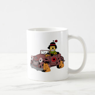 Taza De Café Payaso en coche