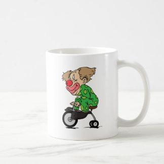 Taza De Café Payaso en el triciclo