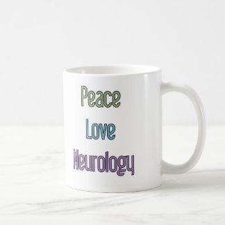 Taza De Café Paz, amor, neurología