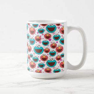 Taza De Café Paz de Elmo y del monstruo el | de la galleta y
