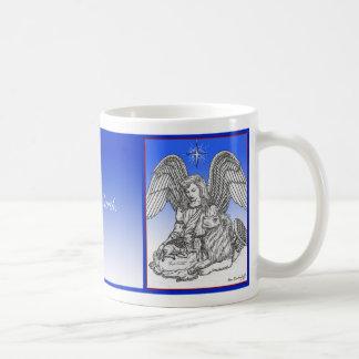 Taza De Café Paz en la tierra, el león, el cordero y el ángel